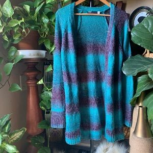 Fox long sweater cardigan